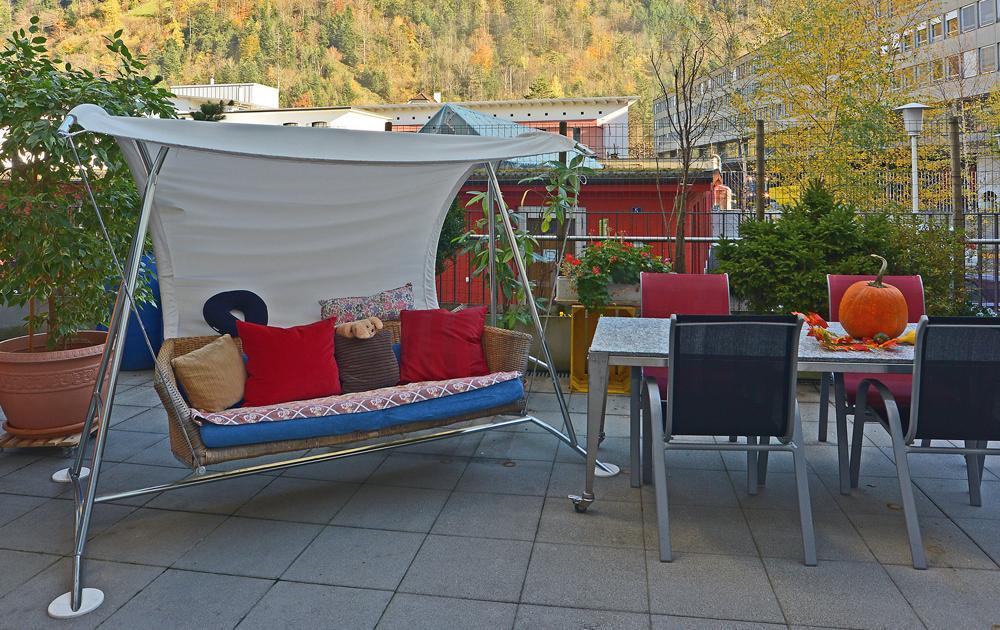 PWG Hoefli Sitzplatz auf der Gartenterrasse
